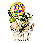 White Wine Gift Basket Happy Birthd...