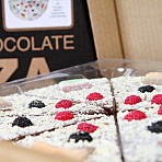 Chocolate Pizza with Fruity Sweets