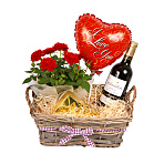 Red Wine Gift Basket - I Love You