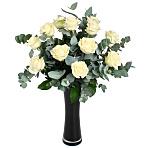 White<br /> Roses Gift Wrap