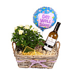 White Wine Gift Basket - Get Well Soon