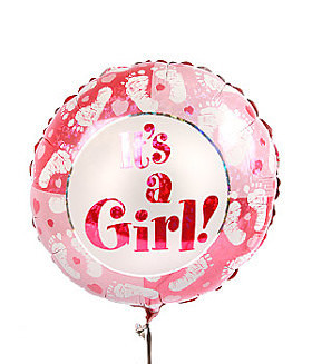 Its a Girl balloon -Foot Prints