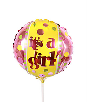 Baby Girl  Balloon - on a stick