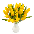 20 Yellow Tulips with Vase