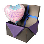 Engagement balloon in giftbox