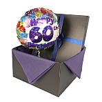 60th Birthday balloon in giftbox