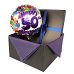 50th Birthday balloon in giftbox