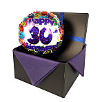 30th Birthday balloon in giftbox