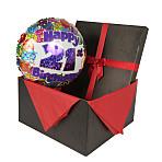 21st Birthday balloon in giftbox