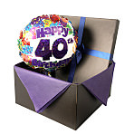 40th Birthday balloon in giftbox