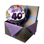 40th Birthday balloon in giftbox