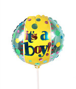 Baby Boy  Balloon - on a stick