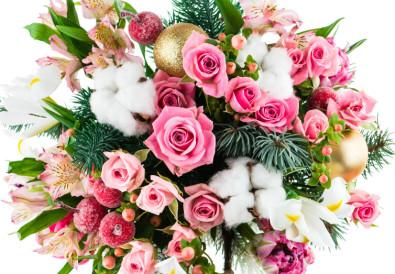 composition florale de noel