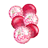 """It's a Girl"" Balloon Bouquet (6)"
