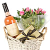 Rose Wine Gift Basket