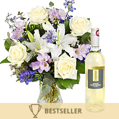 Summer Skies with White Wine - Flowers