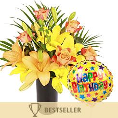 Aztec Sun With Happy Birthday Balloon