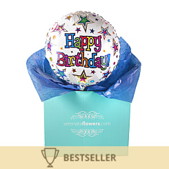 Happy Birthday Stars Balloon Gift - Flowers