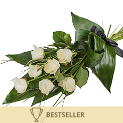 Elegant White Rose Sheaf - Hampers
