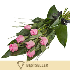 Elegant Pink Rose Sheaf - Flowers