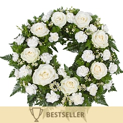 Classic White Wreath - Flowers