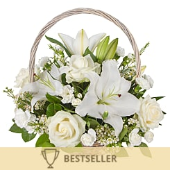 White Lily Basket - Flowers