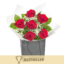 Six Red Roses - Hampers