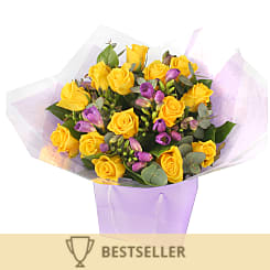 Roses and freesias - Flowers