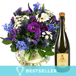 Ocean Whisper with Prosecco - Flowers