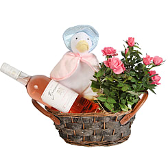 Jemima Puddle Duck Gift Basket - Flowers
