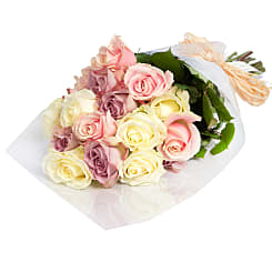 20 Luxury Pastel Roses - Flowers