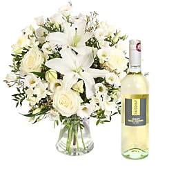 Peace with White Wine - Flowers
