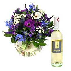 Ocean Whisper with White Wine - Flowers