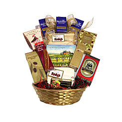 Deluxe Choice Gift Basket - Flowers