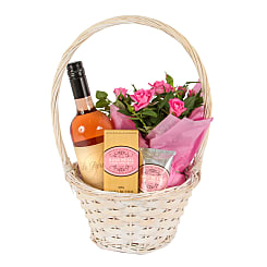 Gift Basket with Rose Petal Hand Cream - Hampers
