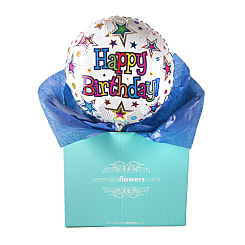Happy Birthday Stars Balloon Gift - Hampers