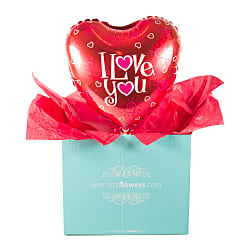 I Love You Balloon Gift - Flowers