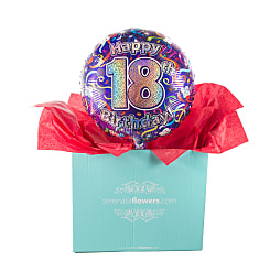 18th Birthday Balloon Gift - Flowers