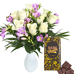 Twilight with Free Chocolate - Flowers