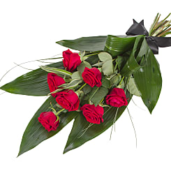 Elegant Red Rose Sheaf - Flowers