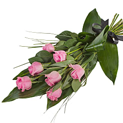 Elegant Pink Rose Sheaf - Hampers