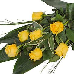 Elegant Yellow Rose Sheaf - Flowers