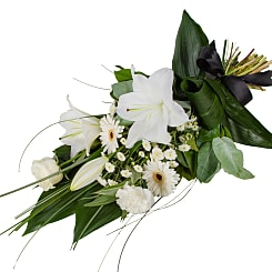 Petite White Lily Sheaf - Hampers