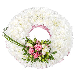 Traditional Pink Wreath - Flowers