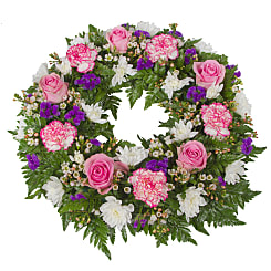 Classic Pink Wreath - Flowers