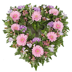 Pink Open Heart Tribute - Flowers