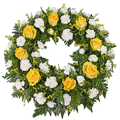Classic Yellow Wreath - Flowers
