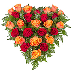 Sunset Rose Heart - Flowers