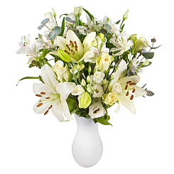 White Letterbox Flowers - Hampers