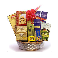 Cheese Lover Gift Basket - Flowers